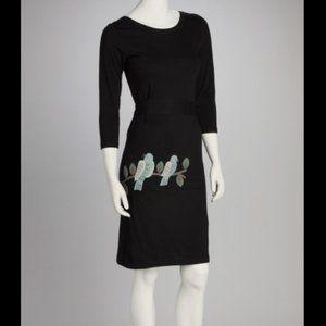 Synergy Love Birds on a Branch Tie Waist Dress S